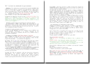Le commissaire du gouvernement - conclusions soustraites au principe du contradictoire