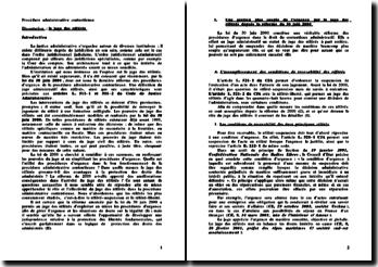 Le juge des référés - conditions de recevabilité et limites à l'action