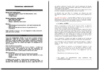 Actualisation du contentieux administratif 2007 - 2008