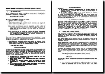 Les conditions de recevabilité d'un recours devant le juge administratif relatives au recours