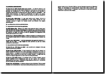 La jurisprudence administrative relative à la juridiction administrative