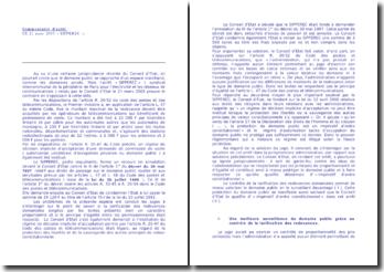 Conseil d'Etat, 21 mars 2003, Sipperec