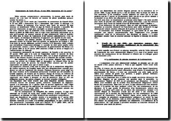 Commentaire d'arrêt : Conseil d'Etat, 11 mai 2004, Association AC! et autres