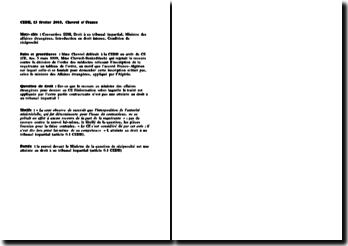 CEDH, 13 février 2003, Chevrol c/ France