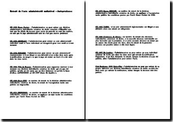 Actes Administratifs Unilatéraux (Jurisprudence)