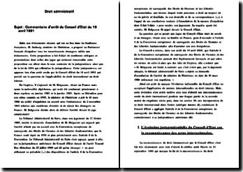 CE 19 avril 1991 Belgacem