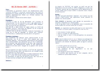 CE 2007-A.P.R.E.I- et CE 2007-VILLE D'AIX EN PROVENCE
