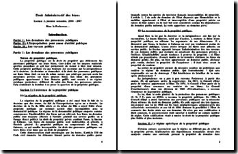 Droit administratif des biens - fiche récapitulative