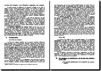 La Cour des Comptes et Les Chambres régionales des comptes
