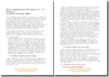 La notion de service public - Définition, typologie et jurisprudence