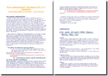 Le contrat administratif - Critères de distinction et jurisprudence
