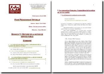 Conceptions française et européenne du Service Public
