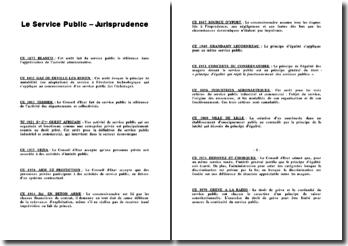 Le Service Public (Jurisprudence)