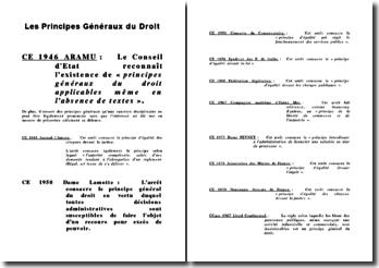Les Principes Généraux du Droit (Jurisprudence)