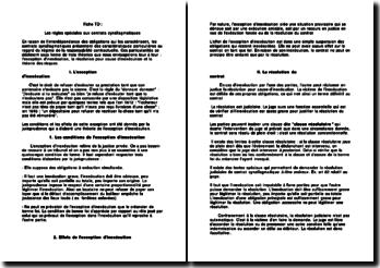 Les règles spéciales des contrats synallagmatiques