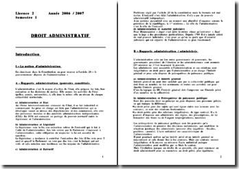 Droit administratif - 2è année