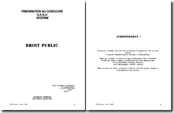 Droit public pour concours