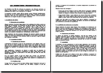 Les juridictions présidentielles - référés et ordonnances sur requête