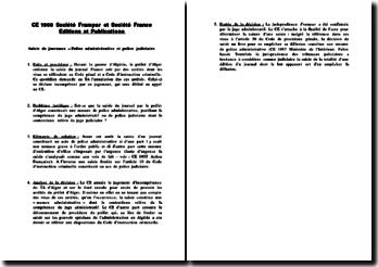 CE, 1960, Société Frampar et Société France Editions et Publications