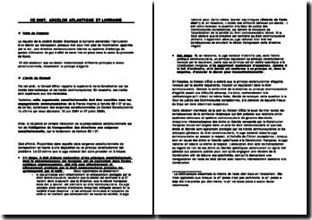 Conseil d'Etat, 8 février 2007, Arcelor Atlantique et Lorraine
