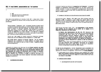 Conseil d'Etat, 11 mai 2004, Association AC! et autres