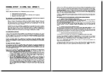 CE, 10 avril 1992, Epoux V.