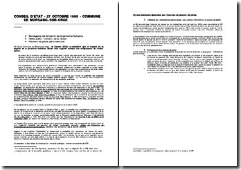 CE, 27 octobre 1995, Commune de Morsang sur Orge