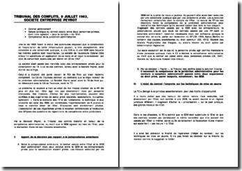 TC, 8 juillet 1963, Société Entreprise Peyrot