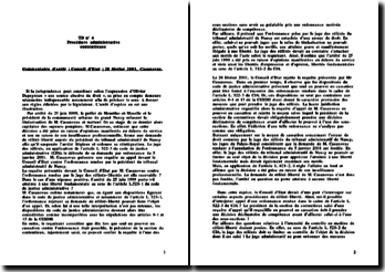 Conseil d'Etat, 2001, Casanovas