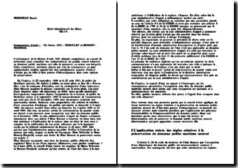 Conseil d'Etat, 6 mars 2002, Triboulet et Brosset-Prospisil