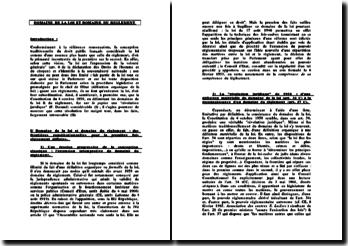 Domaine de la loi et domaine du règlement