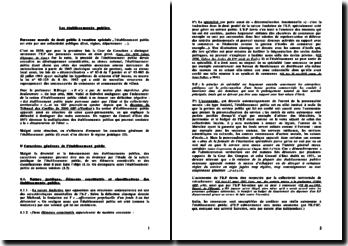 Les établissements publics - historique et cadre légal