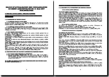 Actualisation de la jurisprudence administrative - mai 2007