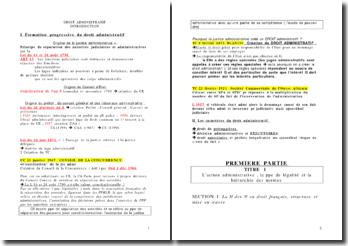 Révisions de droit administratif
