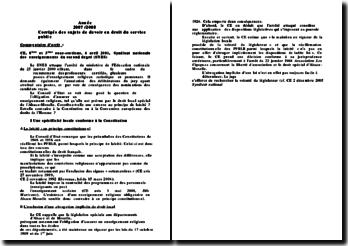 Conseil d'Etat, 6 avril 2001, Syndicat national des enseignant du second degré (SNES)