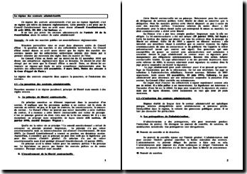 Le régime des contrats administratifs