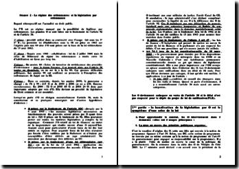 Le régime des ordonnances et la législation par ordonnance