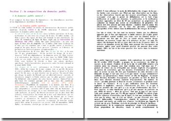La composition du domaine public - Naturel ou artificiel, maritime, fluvial, terrestre et aérien