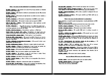 Récapitulatif des grands arrêts et traités en droit administratif