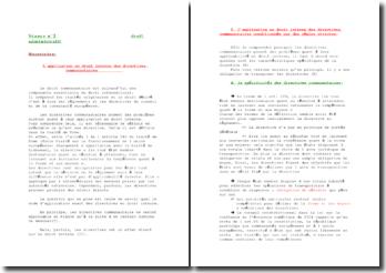 L'application en droit interne des directives communautaires