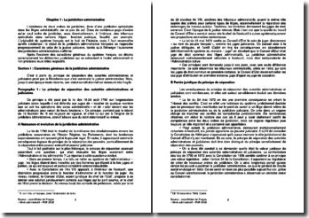 Le fonctionnement des juridictions administratives