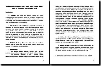 Conseil d'Etat, GISTI, 8 décembre 1978 (version 2)