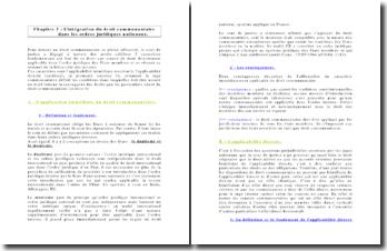 L'intégration du droit communautaire dans les ordres juridiques nationaux.
