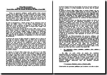 Conseil d'Etat, 31 mai 2006, Ordre des Avocats du barreau de Paris