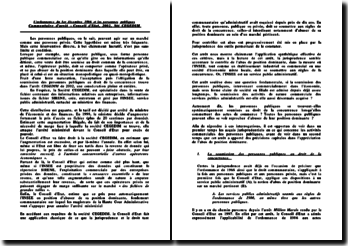 Conseil d'Etat, 29 juillet 2002, CEGEDIM
