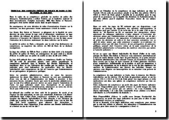 Tribunal des Conflits, 12 mai 1997, Tribunal de police contre TGI de paris
