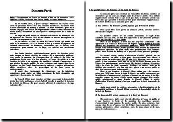 Conseil d'Etat, 28 novembre 1975, Office National des Forêts (ONF) c/ Sieur Abamonte