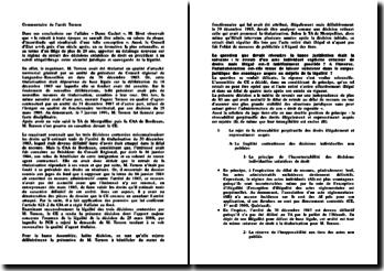 Conseil d'Etat, 26 octobre 2001, Ternon