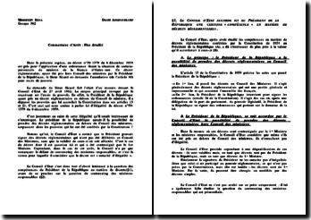 Conseil d'Etat, 27 avril 1962, Sicard (version 2)