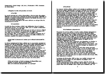 Conseil d'Etat, 29 décembre 1997, Commune de gennevilliers